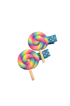 Candy Liliac Hair Clips (2 pieces)