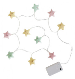 String Lights Stars Pastel