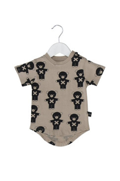 Huxbaby Soldier Bears T-shirt Natural