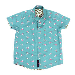 Maison Q Flying Geese Reversible Shirt