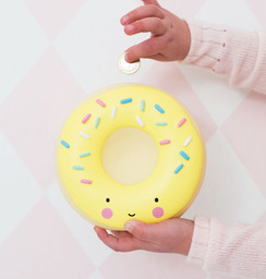 Donut Yellow Money Box