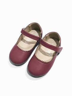Plum Strap Shoes