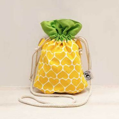 Ang Ku Kueh Girl Drawstring Pineapple Sling Bag