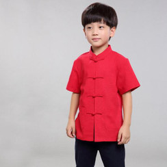 Boy Kungfu Red Top