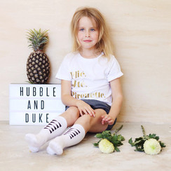 Hubble + Duke Knee High Socks - Mini Bows Black