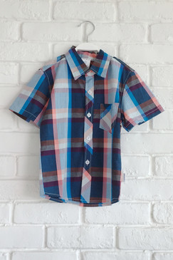 Blue Pink Checkered Shirt