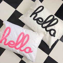 Hello Single Sided Pillowcase (Single)