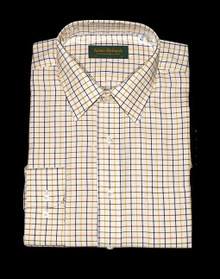 Tattersall Shirt, Green/Red/Navy/Yellow Check