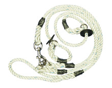 Two Dog Lead: White with rubber fittings
