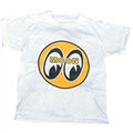 Youth Moon T-Shirt-White w/Yellow Mooneyes