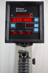 Wilson C524T Digital Twin Rockwell Hardness Tester Front Testing View. Brystar Metrology Tools.
