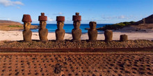 Easter Island - Ahu Nau Nau with Moai