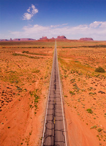 Road in Monument Valley