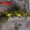 Idea of how to use box of greens on a mantle. Just add green apples and lights.