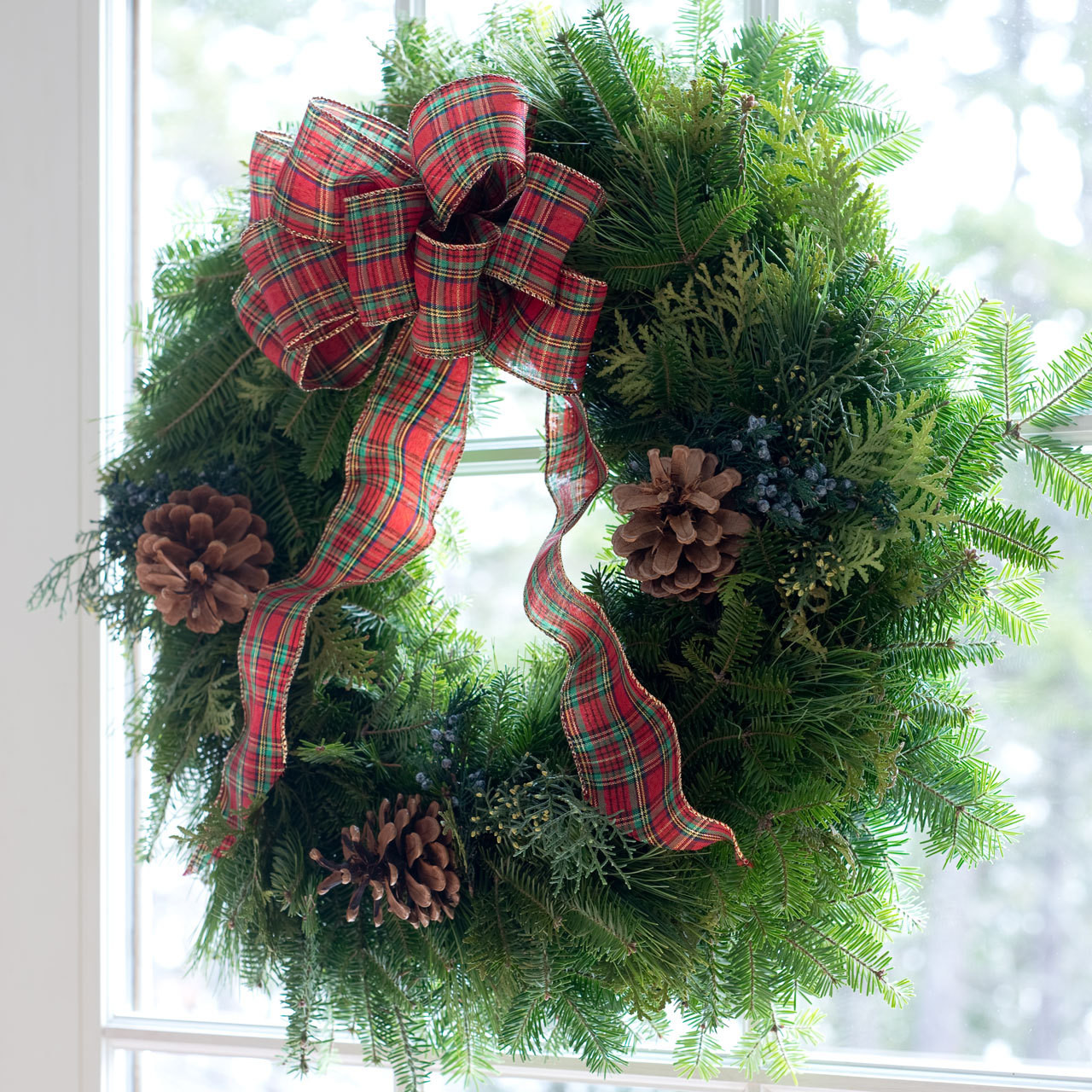 Country Plaid Wreath