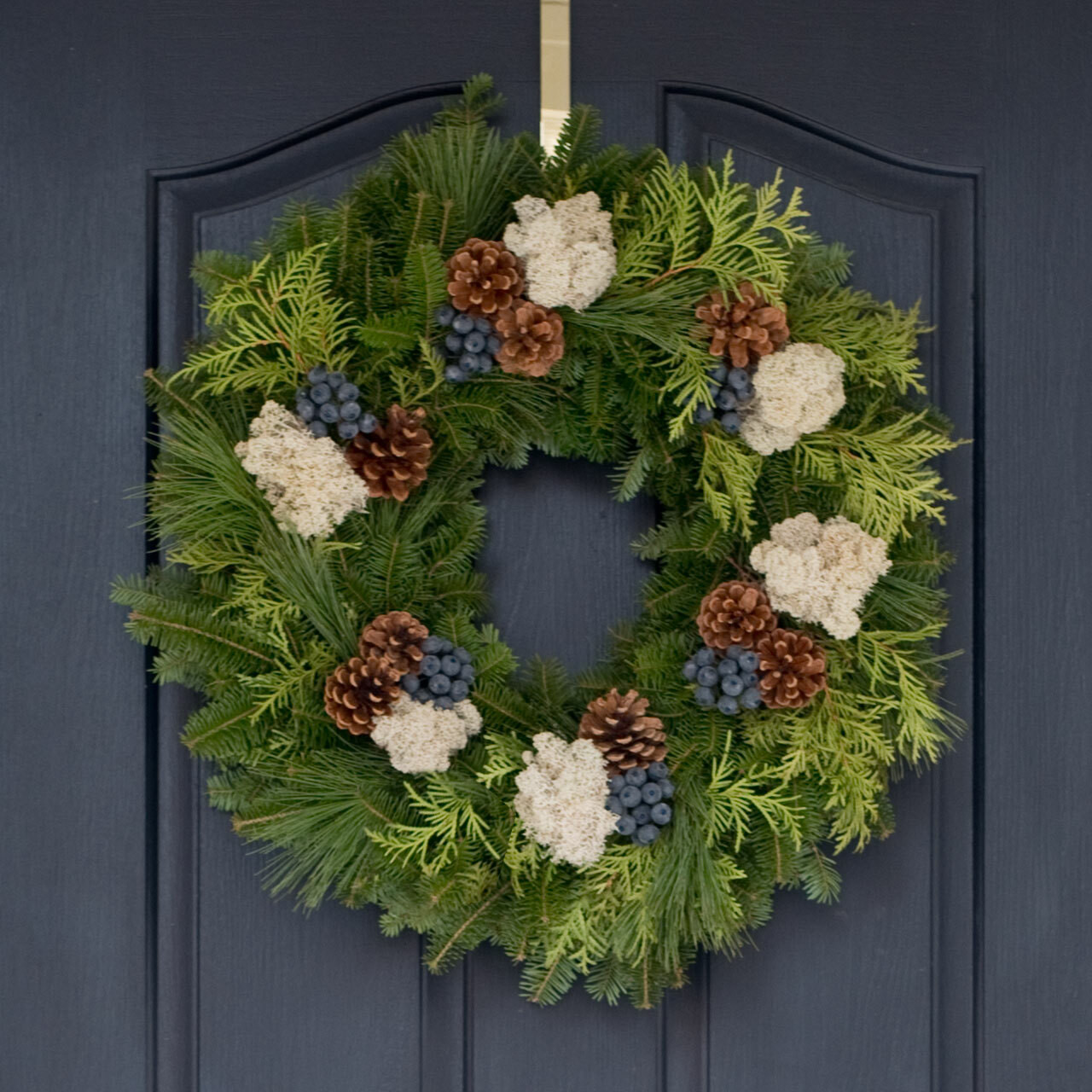 Blueberry Christmas Wreath