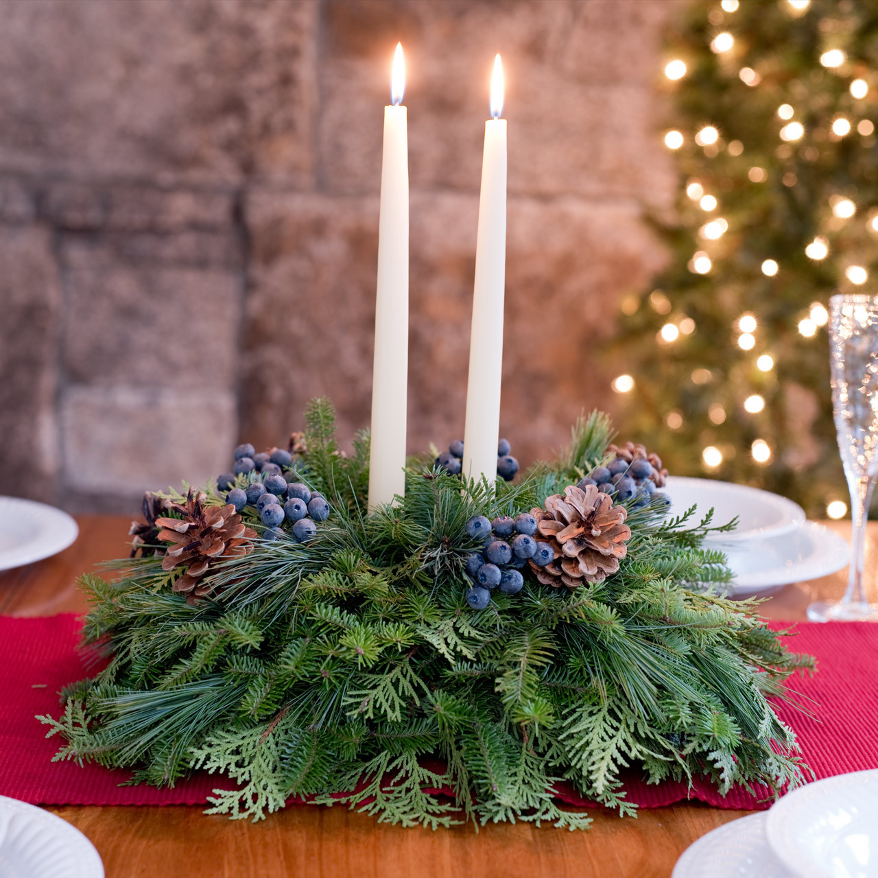 Blueberry Holiday Centerpiece