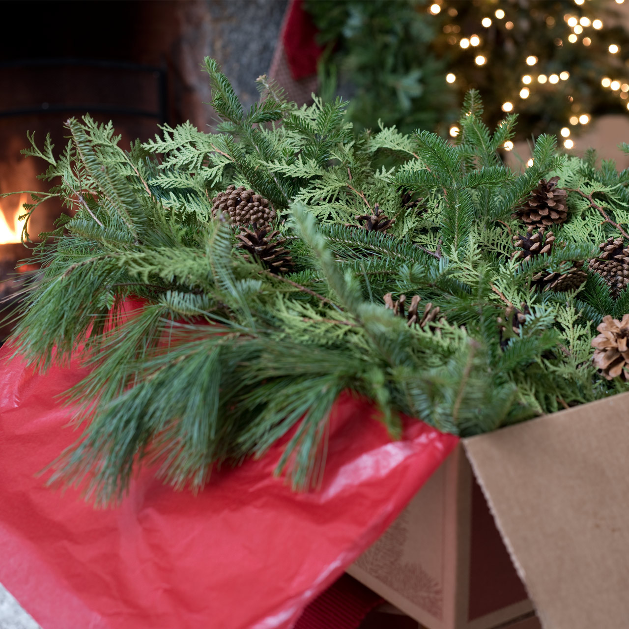 Big Box of Greens Christmas Decorations
