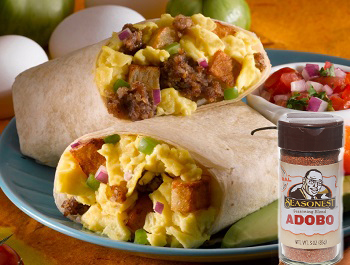 Seasonest Adobo Blend-Spicy Chicken Burrito