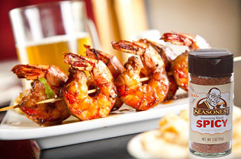 Seasonest Spicy Blend-Cajun Shrimp Skewers