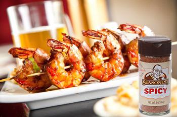 Seasonest Spicy Blend-Cajun Shrimp Skewers