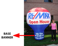 RE/MAX Custom BASE Banner for 8' airLite™ Balloon **Banner production time is 10 business days plus transit time.**