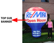 RE/MAX Custom TOP SUB Banner for 8' airLite™ Balloon **Banner production time is 10 business days plus transit time.**