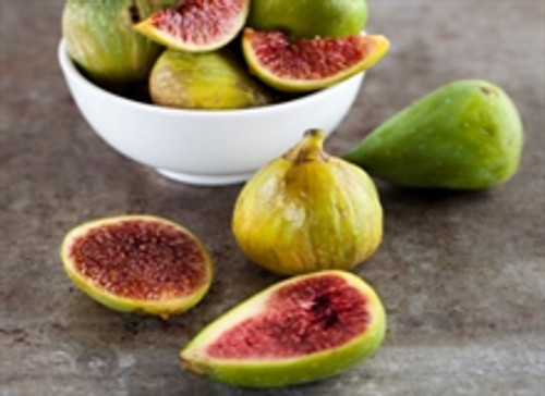 Fresh figs in a white bowl