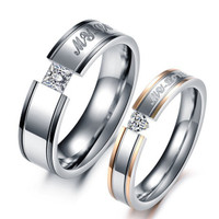 His And Hers Promise Stainless Steel Ring Sets