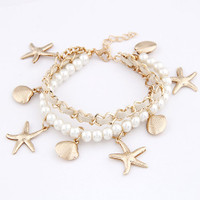 """Sea Wonder"" Pearl Multilayer Bracelet"
