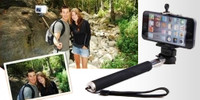 Self-portrait Extendable Stick + Phone Bracket Works With All Kinds Of Compact,Point And Shoot Digital Cameras