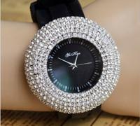 """Bling - Bling"" Women's Round Diamond Simulated Watch"