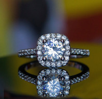 Cubic Zirconia Micro-Inserted Ring