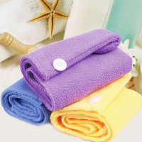 Set of 2 Microfiber Hair Drying Towels