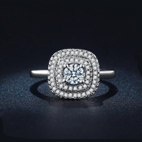Signature Crystal Double Halo Ring