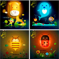 Kids Night Light Lamp Wall Decals