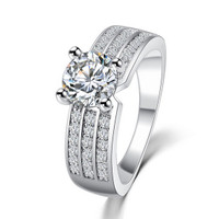 Cubic Zirconia Silver Forever Band