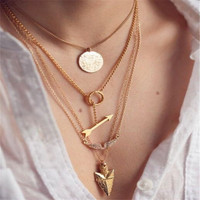 "Multilayer Necklace ""Faith"""