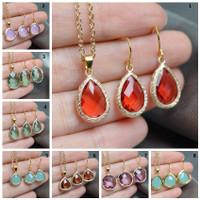 Geometrique Necklace and Earrings Set
