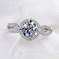 Luxury Round Cut Micro Inserted Ring