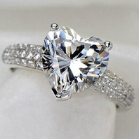 Heart Shaped Cubic Zirconia Micro Inserted Ring