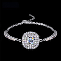 Halo Micro Inserted Swarovski Elements Bracelet
