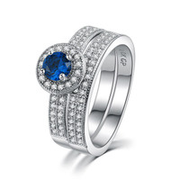 Blue Cubic Zirconia Band Ring