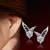 Angel Wings Crystal Stud Earrings