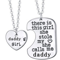 There Is This Girl She Stole My Heart She Calls Me DADDY  Pendant Necklace