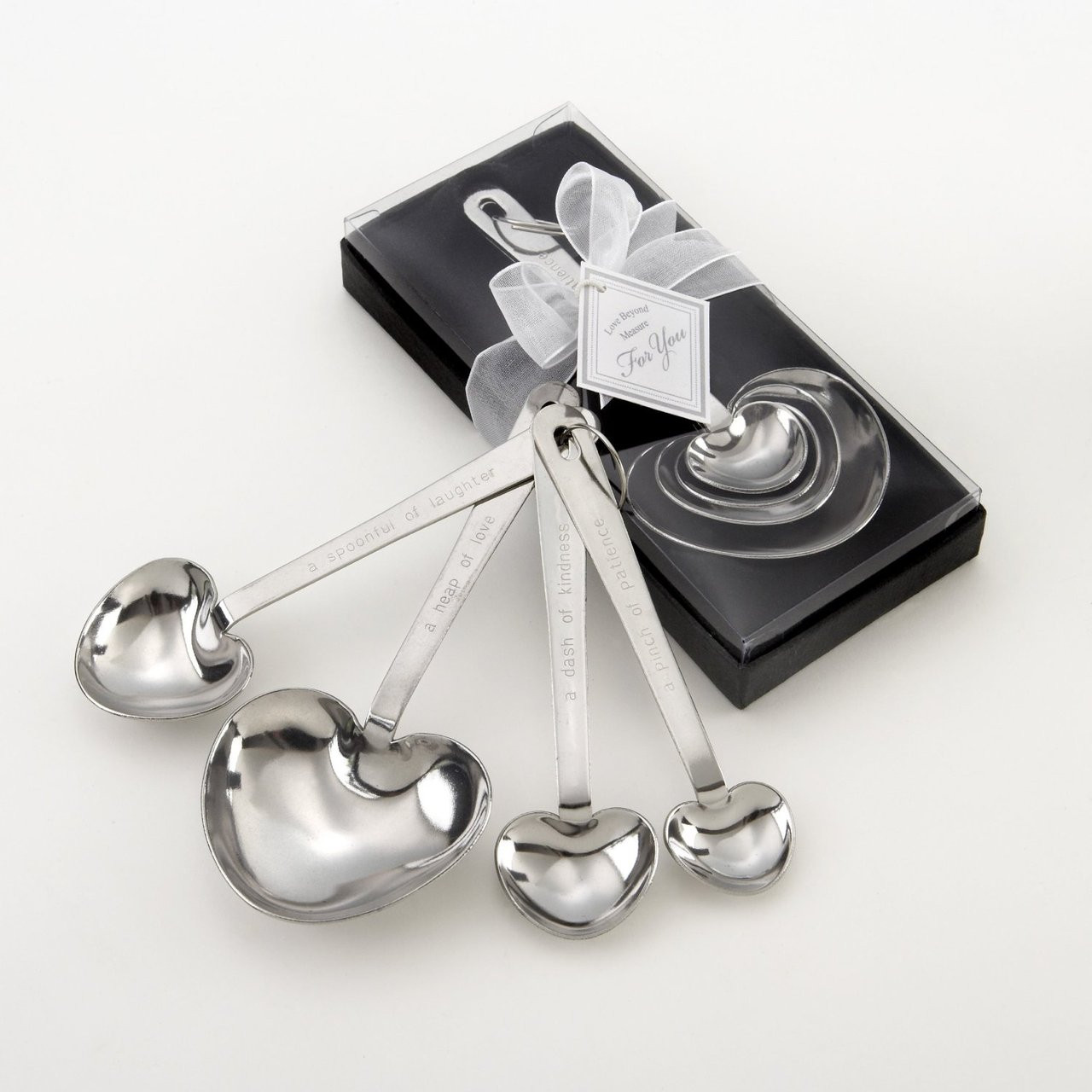 Heart Shaped Measuring Spoons in Gift Box - AngelSale