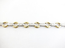 14KT Two Tone Diamond Bracelet