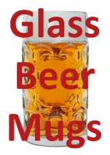 Glass Beer Mug Available for Custom Laser Engraving