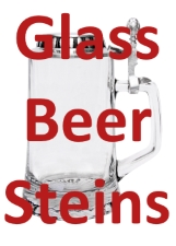 Glass Beer Stein with Lid Available for Custom Engraving