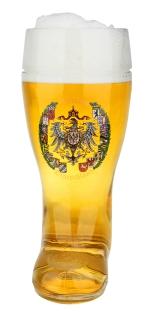 German 1 Liter Glass Beer Boot for Sale Online